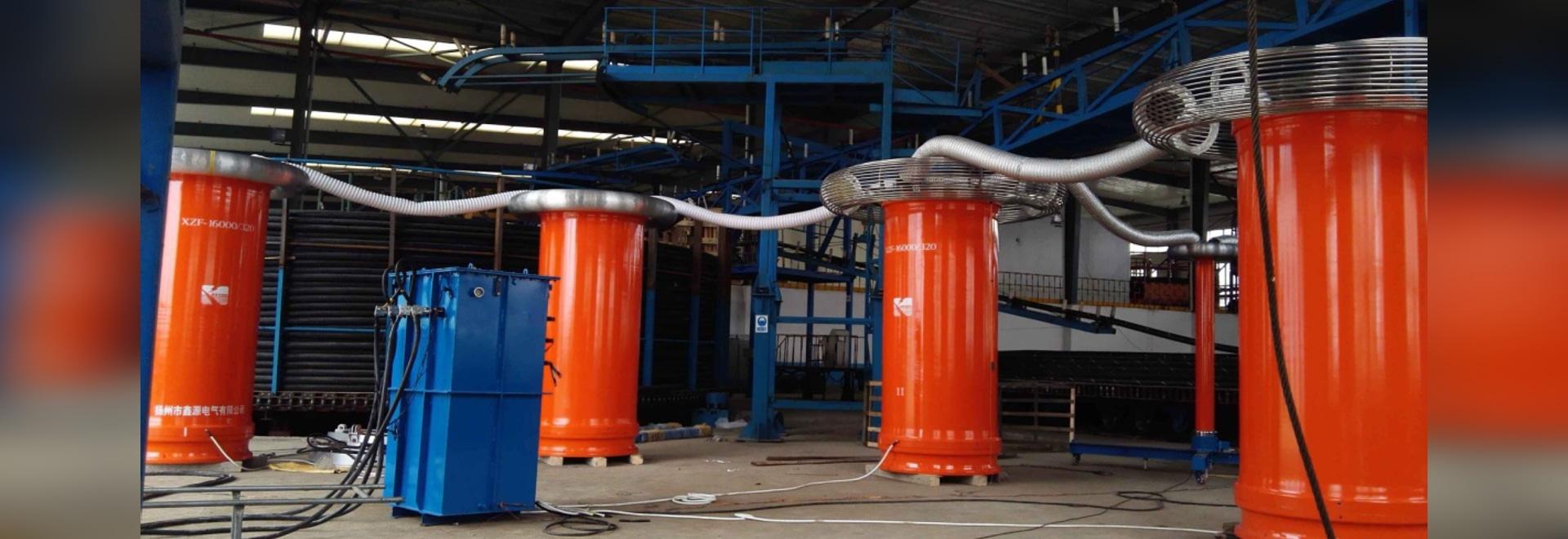 Essai d'usine de cable électrique 220kV de PowerHV- 34km