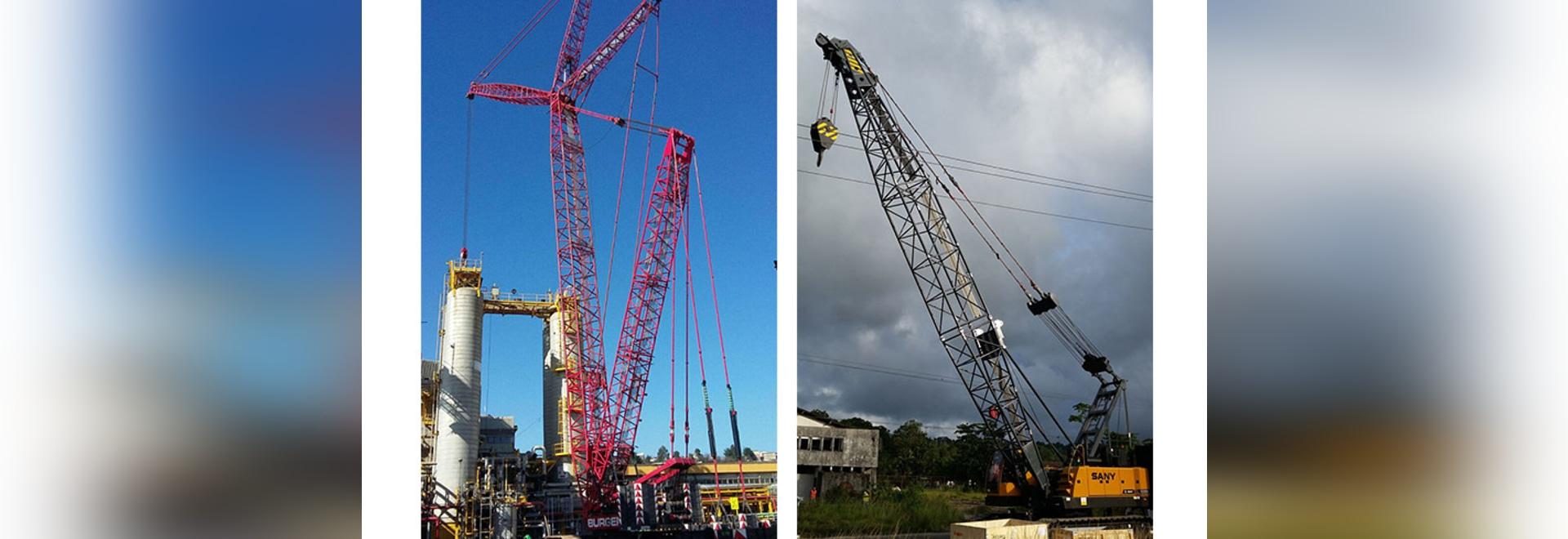 La grue de chenille de SANY participe à la construction d'infrastructure de l'Amérique latine