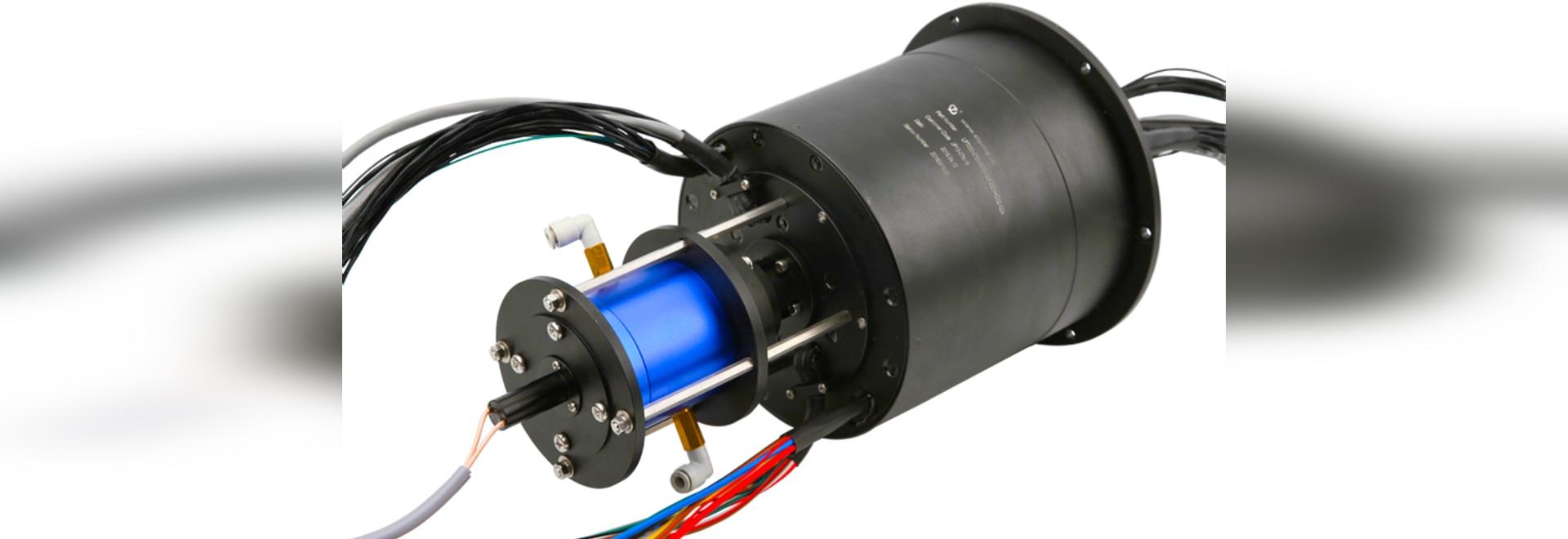 Joint tournant intégré hydraulique et électrique pneumatique