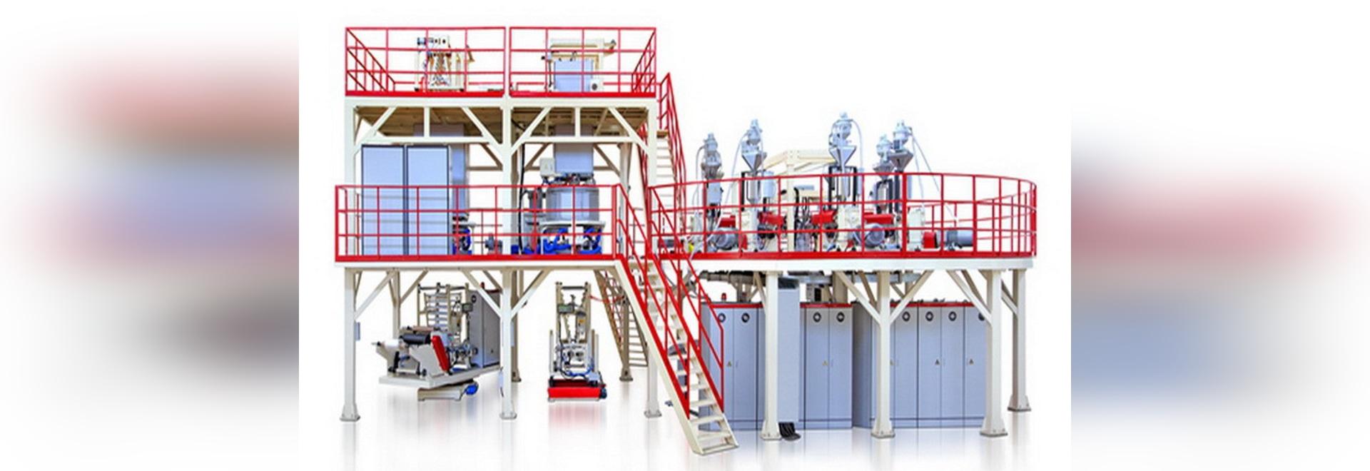 machine enflée de film de barrière élevée de la Multi-bulle 7-layer installée dans la Chine orientale