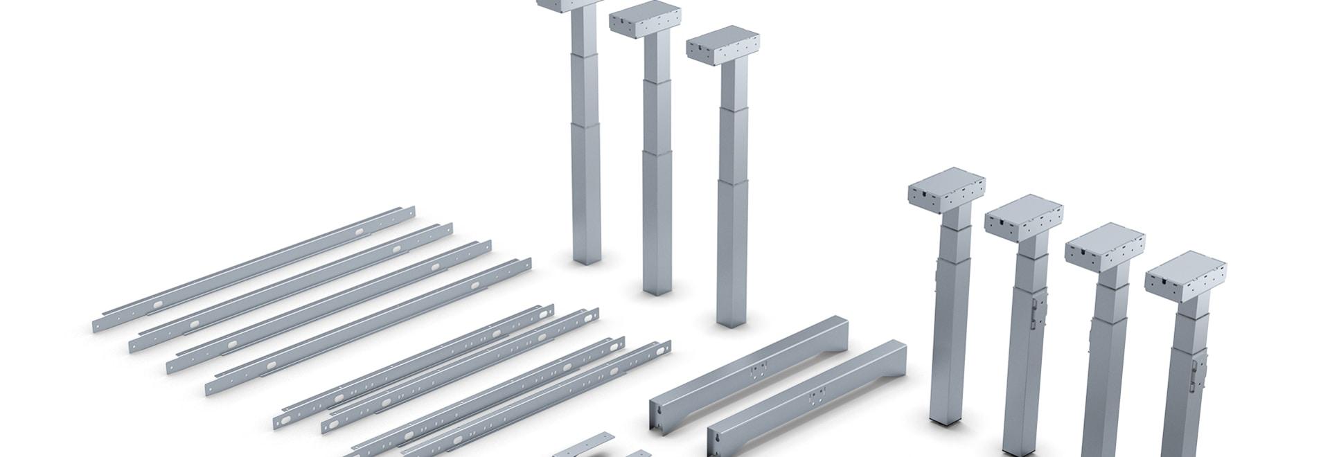 Système modulaire pour différents sous-châssis de table