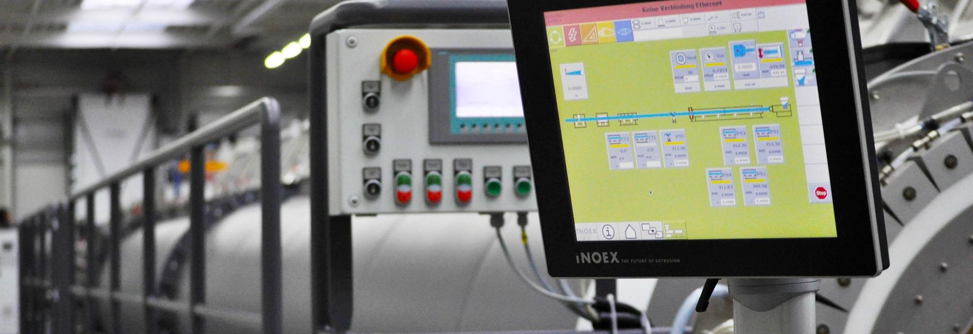 Système rocailleux de HMI avec le contact de PCap