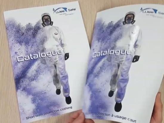 Le catalogue de combinaison de protection chimique est imprimé !