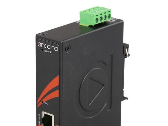 Antaira présente l'injecteur d'alimentation par Ethernet (PoE) INJ-0200G-60-24-T IEEE 802.3bt de type 3
