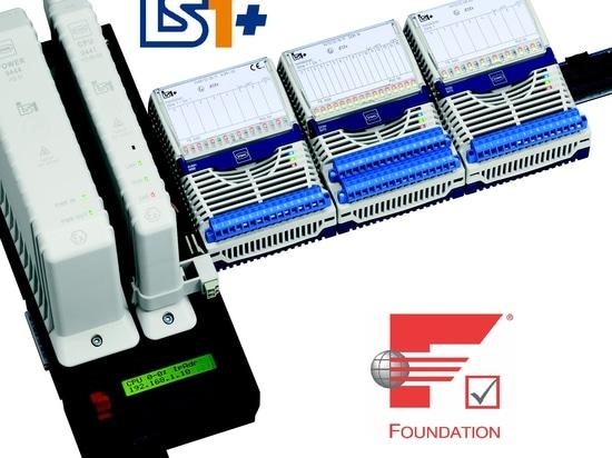 Le système à distance d'entrée-sortie d'IS1+ communique avec le HSE de FF