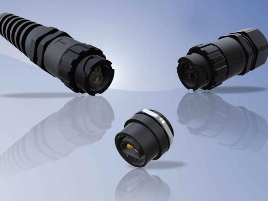 Connecteurs de baïonnette de puissance de CONEC IP67 - conçus pour les jonctions de câble industrielles dans les environnements durs