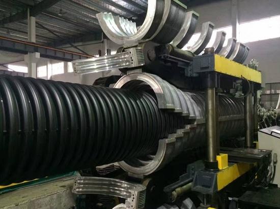 Ligne ondulée de tuyau de mur du double PE225-800