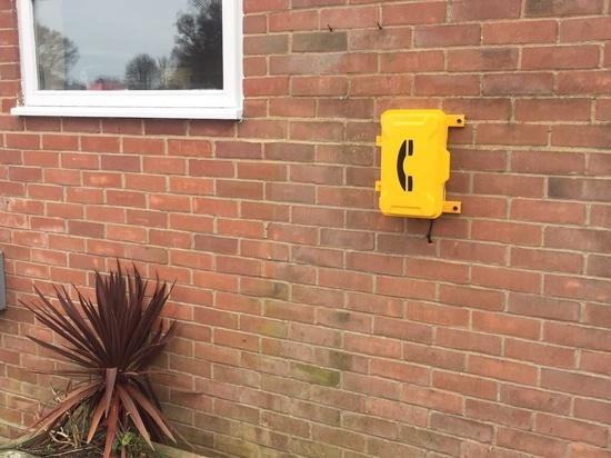 Le téléphone d'urgence de J&R fonctionne grand en Forest Park, Norfolk, R-U.