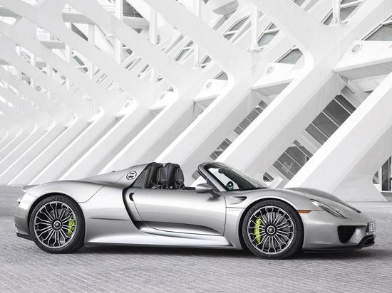 Vue de côté Porsche