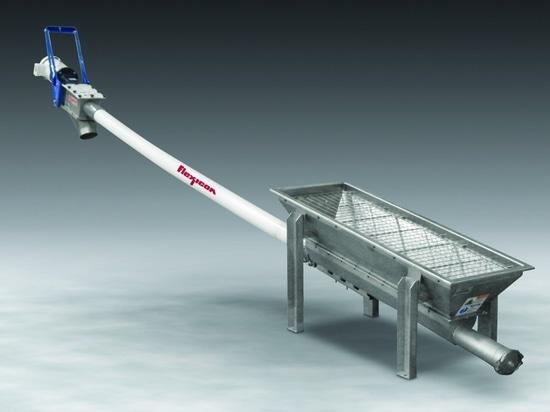 Le convoyeur de vis flexible avec la trémie de cuvette adapte à des sources matérielles multiples