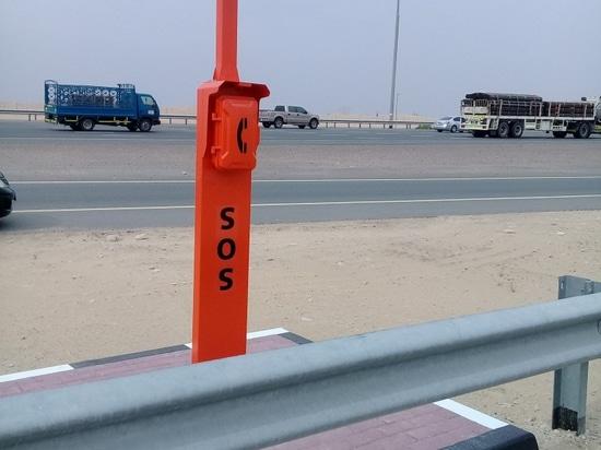 Le nouveau téléphone de bord de la route de secours de conception pour le projet de route de Dubaï