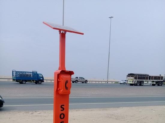 Nouveau téléphone de bord de la route de secours de conception pour le projet de route de Dubaï