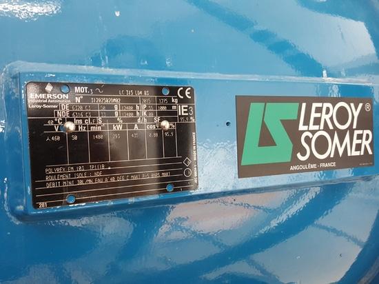 Plaque du moteur LC sur site