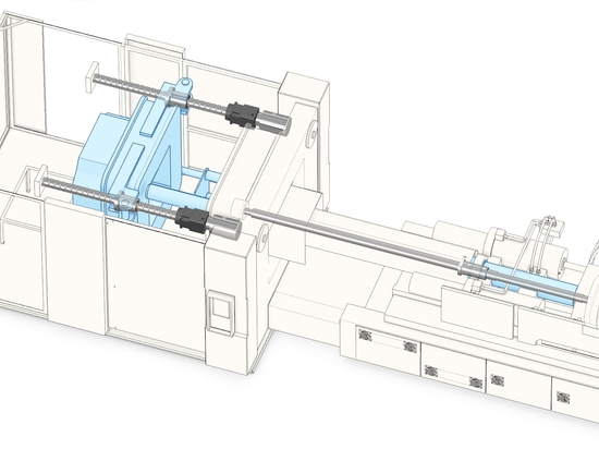 Vis de boule de highload de Thomson dans la machine de moulage par injection