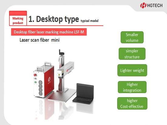 Machine de bureau LSF-M d'inscription de laser de fibre
