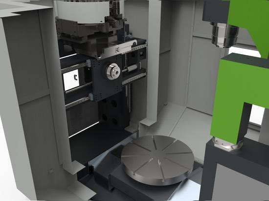 Centre de rotation et de fraisage de double système pour votre atelier travaillant à la demande