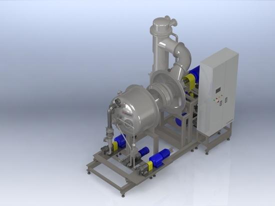 Vaporisateur en couche mince «EVAPOR» d'écoulement centrifuge : un mélange de technologie japonaise et allemande