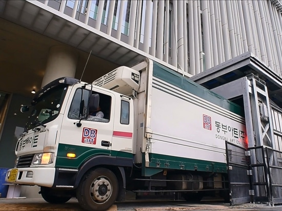 Ascenseur unique de camion pour Amore Pacifique, un fabricant coréen des produits de soins de la peau