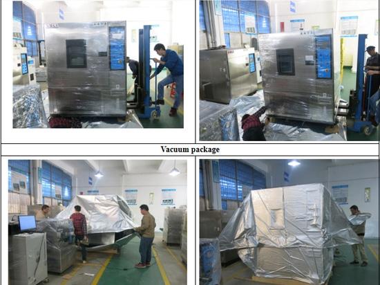 Détail d'emballage de machine d'essai d'humidité de la température