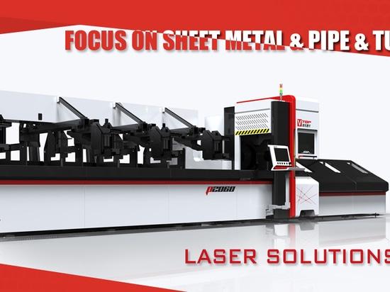 Tube carré rond en acier inoxydable Fibre Métal Laser Cutting Machine Pour Office Bureau, affichage du plateau
