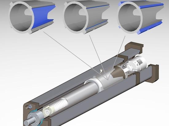 Entrez en contact avec les secteurs dans la poussée et les conditions de charge latérales