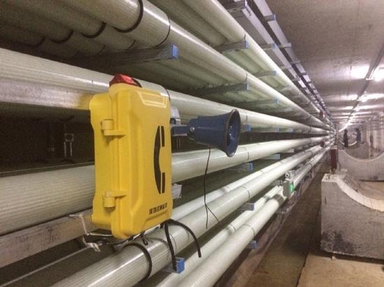 Téléphone d'urgence pour l'installation souterraine de projet de galerie de canalisations
