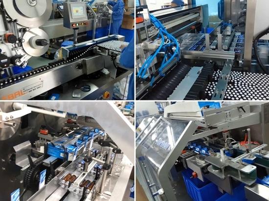 Cartonneur intégré avec la machine et l'étiqueteur de boursouflure