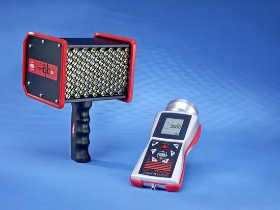 Famille de stroboscope avec la fonction automatique-synchro - laser de pocketLED de STROBOSCOPE de droite et qbLED superbe de STROBOSCOPE de droite