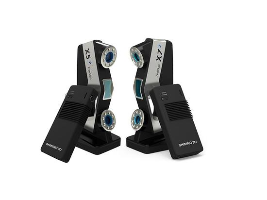 FreeScan sans fil X5+ et X7+, d'abord scanners 3D tenus dans la main sans fil BRILLANTS du laser 3De s