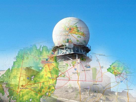 Bague collectrice de radar de temps
