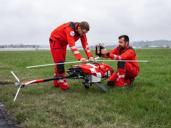 Conférence de presse annuelle 2019 : le nouveau drone de la Rega vole et cherche de manière autonome