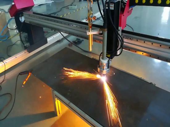 Vidéo portative de coupe de découpeuse de commande numérique par ordinateur de portique de SteelTailor DragonIII