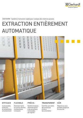 SOXTHERM® - Extraction entièrement automatique