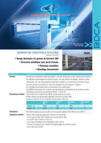 BDCA (borne de contrôle d'accès Hauteur VL et PL)