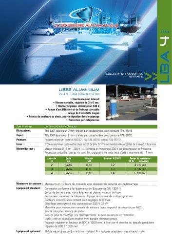LBA 4 (Lisse aluminium  2 à 4 m - Lisse ovale 84 x 57 mm)