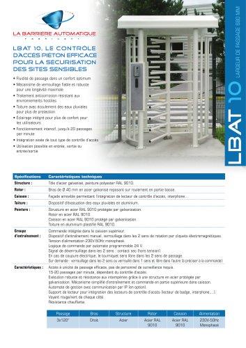 LBAT 10 (Le contrôle d'accès piéton efficace pour la sécurisation des sites sensibles)
