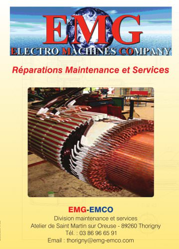 Maintenance et service - EMG-EMCO - Catalogue PDF