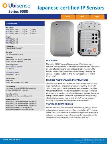Japanese?certified IP Sensors