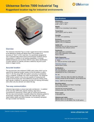 Series 7000 Industrial Tag