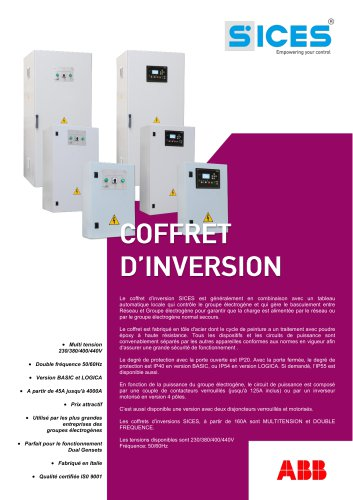 Coffret d'inversion