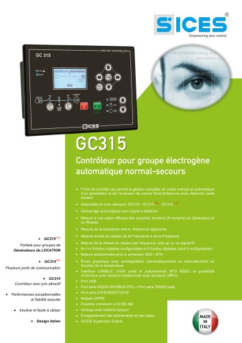 GC315 - Controleur pour G.E. Automatique