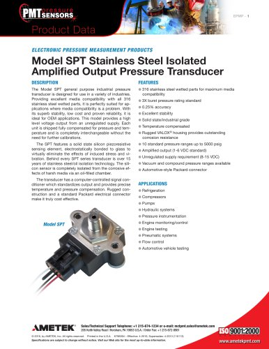 Model-SPT-Stainless-Steel-Isolated-Amplified-Output-Pressure-Transducer