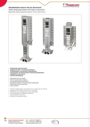 haacon AX béquilles télescopiques en aluminium