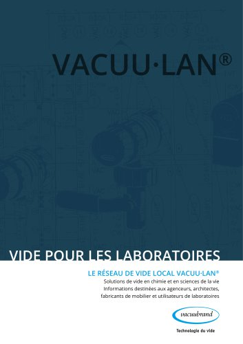 Vakuum für Labore - Lokale Vakuumnetzwerke VACUU·LAN