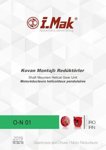 Motoréducteurs hélicoïdaux pendulaires - Série IRO