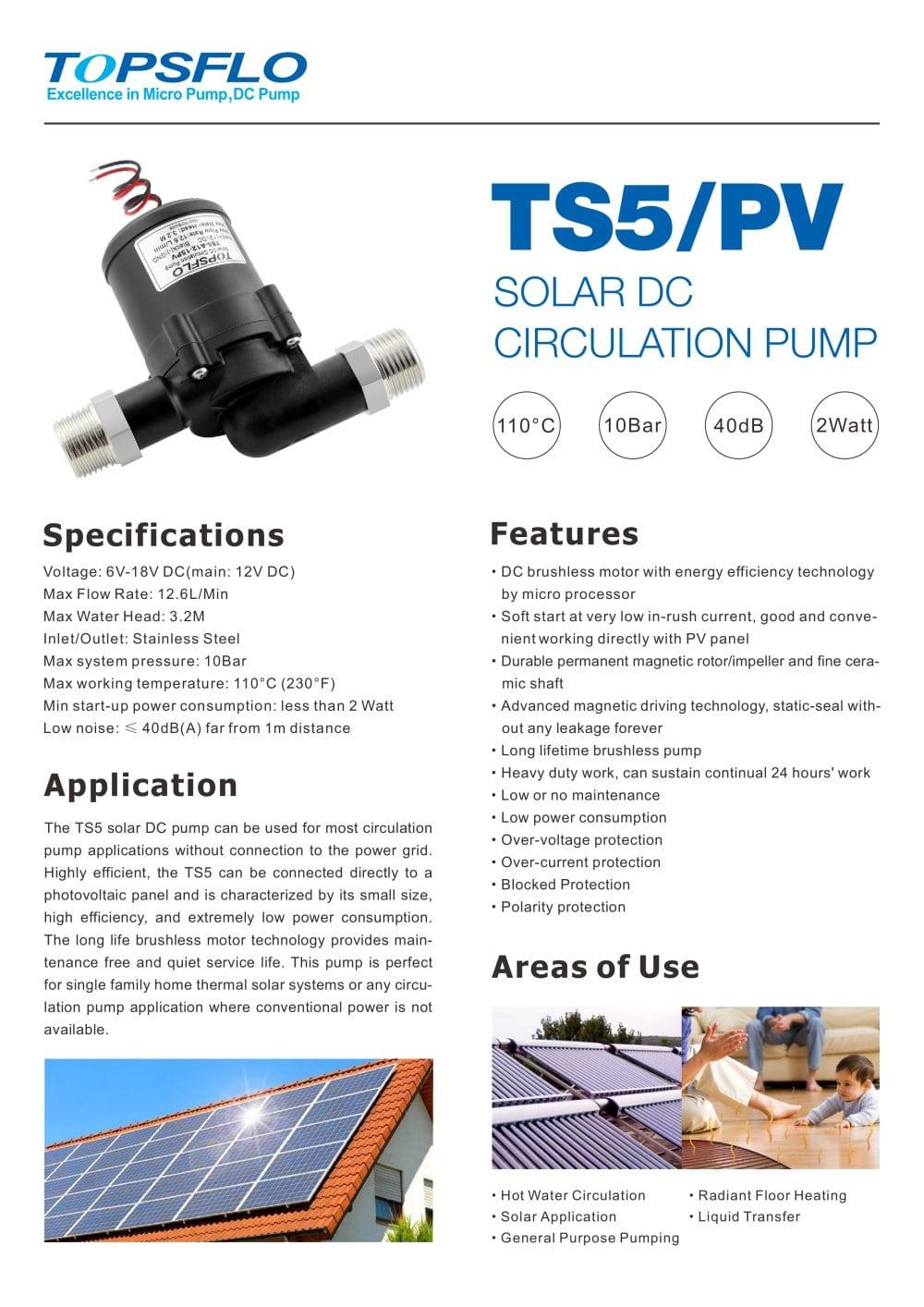 6a57763c5d4 TS5 solar dc water pump