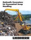 The hydraulic excavators for economical scrap handling