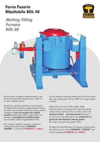 Melting tilting furnace ROL 40