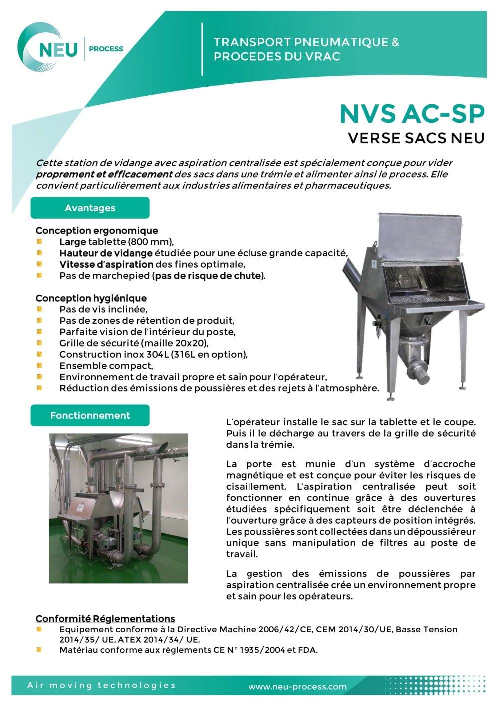 Station de vidange de sacs NVS - NEU AIR MOVING TECHNOLOGIES ... 9be2ca1faa0