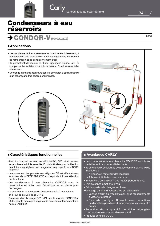 Selection condenseur a eau